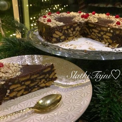 Cokoladna nepecena posna torta
