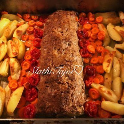 Meleno meso vo rerna