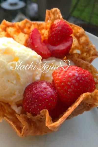 Slatki korpinja za sladoled