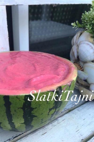 sorbet od lubenica i malinki