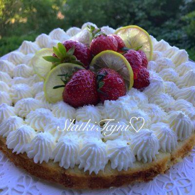 Torta so belo cokolado i limon
