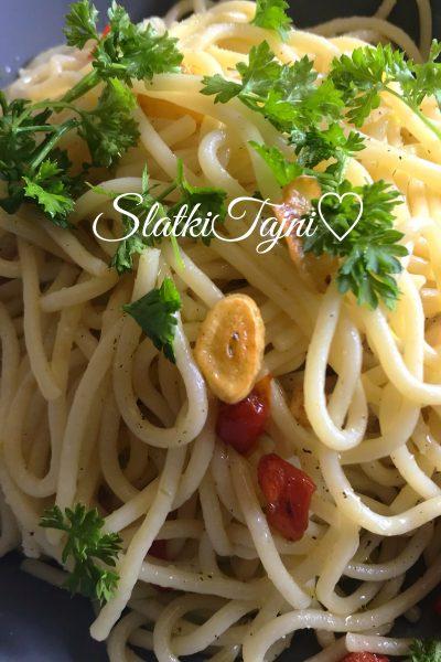 Spaghetti aglio e olie