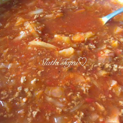 Supa so meleno meso i zelka