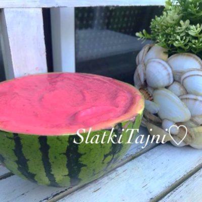 sorbet od lubenica i malinki!!