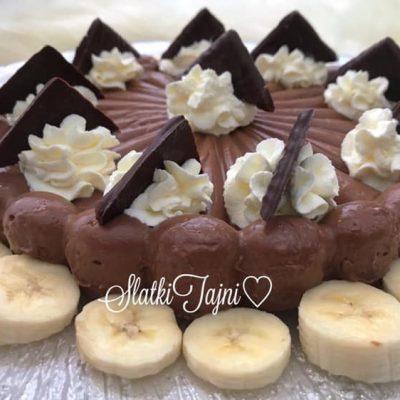 Cokoladna domasna puding torta.