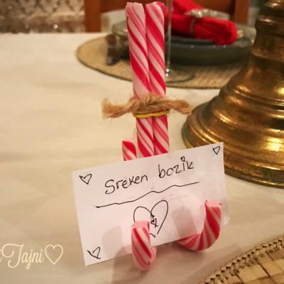 Slatka ideja za dekoracija na Bozikna trpeza!