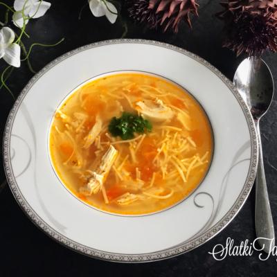 Pileska supa so domat i lukce!